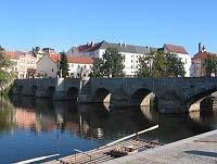 Мост в городе Писек
