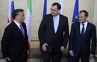 Виктор Орбан, Петр Нечас и Дональд Туск (Фото: ЧТК)