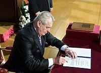 Президент Милош Земан (Фото: Филип Яндоурек, Чешское радио)