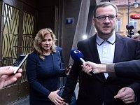 Яна Нечасова и Петр Нечас (Фото: ЧТК)