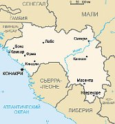 Гвинея (Карта: Wikimedia Free Domain)
