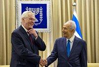 Милош Земан и Шимон Перес (Фото: isifa / Sipa - USA / Xinhua)