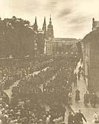 Пражский град, похороны Т. Г. Масарика