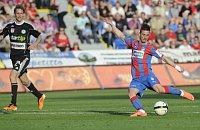Пльзеньские футболисты играли с соперниками из города Пршибрам (Фото: ЧТК)