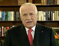 Президент Вацлав Клаус (Фото: Чешское телевидение)