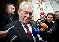 Президент ЧР Милош Земан (Фото: Филип Яндоурек, Чешское радио)