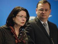 Мирослава Немцова и Петр Нечас (Фото: ЧТК)