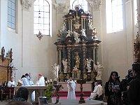 Интерьер костела Святой Маркеты (Фото: Мартина Шнайбергова, Чешское радио - Радио Прага)