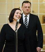 Петр Нечас со своей женой (Фото: ЧТК)