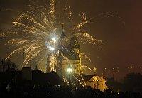 Фейерверк в Праге (Фото: ЧТК)