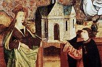 Алтарь крестоносцев т.н. «Арка Пухнера». Святя Агнесса с магистром ордена Николаем Пухнером, 1482 г. (Фото: Архив Национальной галереи)
