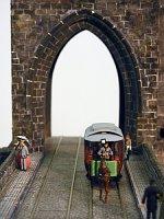 Конка на Карловом мосту (макет)