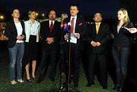 Пресс-конференция партии Дела общественные (Фото: ЧТК)