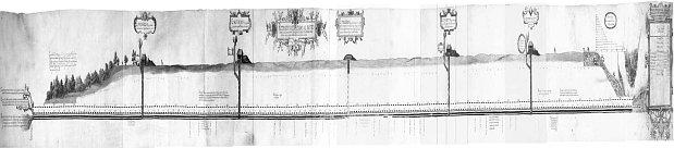 Карта Рудольфовой штольни