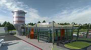Аэропорт Водоходы - визуализация