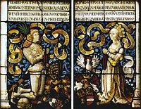 Фридрих ст., маркраф из Ансбахский и Байройтский, бранденбургский курфюрст, с своей супругой Софией Яагеллонской, 1499 - 1502 гг., Langenburg, городский костел