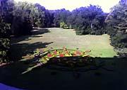«Английский» парк из окон замка