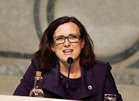 Еврокомиссар по внутренним делам Сесилия Малмстрем