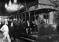 Электрический трамвай в пражском районе Летна