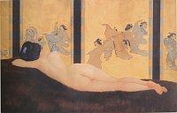 Ян Летцел, «Лежащая японка», 1915-1917, частное собрание