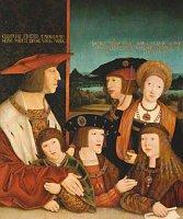 Портрет императора Максимилиана I с семьей и Людовиком II Ягеллонским