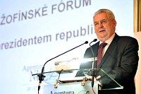 Милош Земан на Жофинском форуме (Фото: Филип Яндоурек, Чешское радио)