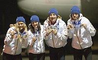 Чешские биатлонисты: Габриэла Соукалова, Вероника Витккова, Ондржей Моравец и Ярослав Соукуп (Фото: ЧТК)