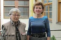 Наталья Горбаневская с Лоретой Вашковой (Фото: Кристина Макова, Чешское радио - Радио Прага)