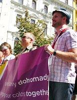 Чеслав Валек во время Prague Pride в 2012 г. (Фото: Кристина Макова, Чешское радио - Радио Прага)