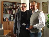 Генеральный директор Чешского радио Петер Дуган и Богдан Помагач (Фото: Кристина Макова, Чешское радио 7 - Радио Прага)