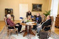 Милош Земан во время программы «Беседы в Ланах» (Фото: Халил Баалбаки, Чешское раидо)