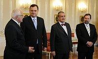 Вацлав Клаус, Петр Нечас, Карел Шварценберг и Радек Йон (Фото: ЧТК)
