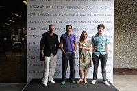 Александер Орлов, Ремигиус Сабулис, Ольга Симонова и Игорь Волошин (Фото: Film Servis Festival Karlovy Vary)