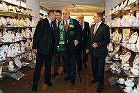 Президент Милош Земан в фарфорной компании Thun (Фото: ЧТК)