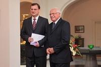Петр Нечас и Вацлав Клаус (Фото: Архив Правительства ЧР)