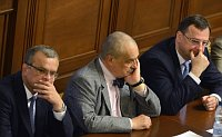 Мирослав Калоусек, Карел Шварценберг и Петр Нечас (Фото: ЧТК)