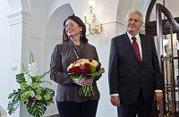 Мирослава Немцова и Милош Земан (Фото: ЧТК)