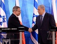 Министр иностранных дел Чешской Республики Лубомир Заоралек и премьер-министр Израиля Биньямин Нетаньяху (Фото: ЧТК)