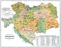 Карта Австро-Венгерской монархии