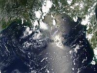 Нефтяное пятно в Мексиканском заливе (Фото: НАСА)