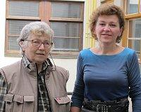 Наталья Горбаневская и Лорета Вашкова (Фото: Кристина Макова, Чешское радио - Радио Прага)