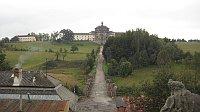 Вид на госпиталь Кукс со старой замковой лестницы (Фото: Ольга Васинкевич, Чешское радио - Радио Прага)
