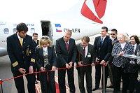 Торжественный момент после приземления во львовском аэропорту (Фото: Czech Airlines)