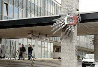 Здание Чешского телевидения в пражском районе Кавчи Горы