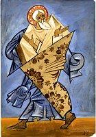 "Эскиз костюма к балету ""Литургия"": волхв, херувим, св. Андрей. 1915."