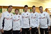 Слева: Лукаш Росол, Иво Минарж, Ян Веселы, Томаш Бердых и Ярослав Навратил (Фото: ЧТК)