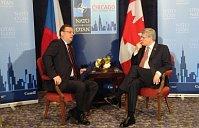 Петр Нечас и Стивен Харпер (Фото: Архив Правительства ЧР)