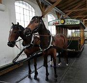 Конка в Музее городского транспортного предприятия в пражском районе Стржешовице