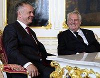 Президент Словакии Андрей Киска и президент Чехии Милош Земан (Фото: ЧТК)