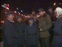 «Народная милиция» на Вацлавской площади в Праге, 1989 г. (Фото: Чехословацкое Телевидение)